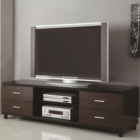 Coaster Furniture 700826 - TV Console (High Gloss Black)
