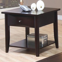 Coaster Furniture 700967 - End Table (Cappuccino)