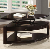 Coaster Furniture 701196 - Pie Shaped Table (Brown/Walnut)