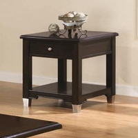 Coaster Furniture 701197 - End Table (Brown/Walnut)