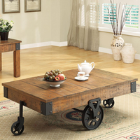 Coaster Furniture 701458 - Coffee Table (Rustic Oak)