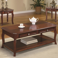 Coaster Furniture 701508 - 3pc Occasional Set (Warm Brown Cherry)
