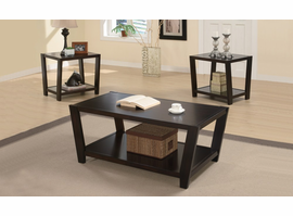 Coaster Furniture 701510 - 3pc Occasional Set (Dark Cappuccino)