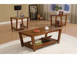 Coaster Furniture 701513 - 3pc Occasional Set (Rich Brown)