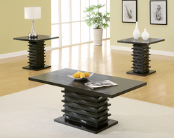 Coaster Furniture 701514 - 3pc Occasional Set (Rich Black)