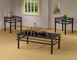 Coaster Furniture 701524 - 3pc Occasional Set (Black)