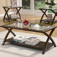 Coaster Furniture 701527 - 3pc Occasional Set (Cappuccino)