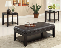 Coaster Furniture 701601 - 3pc Occasional Set (Black)