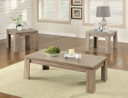 Coaster Furniture - 701646 - 3PC OCCASIONAL SET (WEATHERED BROWN)