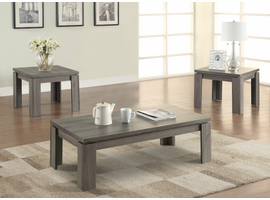 Coaster Furniture - 701686 - 3PC OCCASIONAL SET (WEATHERED GREY)
