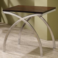 Coaster Furniture 701907 - End Table (Cappuccino/Chrome)