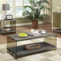 Coaster Furniture - 701968 - COFFEE TABLE (WEATHERED GREY)