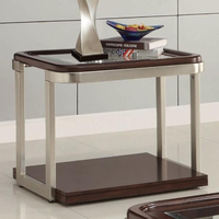 Coaster Furniture 701997 - End Table (Cappuccino/Satin Nickel)