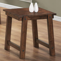 Coaster Furniture 702107 - End Table (Rustic Pecan)