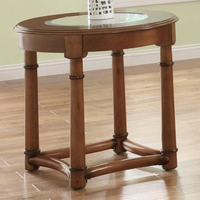 Coaster Furniture 702117 - End Table (Cherry)