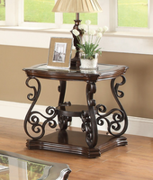 Coaster Furniture - 702447 - END TABLE (DEEP MERLOT)