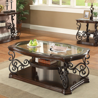 Coaster Furniture - 702448 - COFFEE TABLE (DEEP MERLOT)