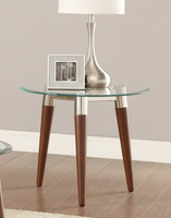Coaster Furniture - 702907 - END TABLE (NICKEL/WARM BROWN)
