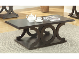 Coaster Furniture - 703148 - COFFEE TABLE (CAPPUCCINO)