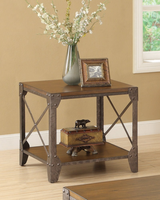 Coaster Furniture - 703197 - END TABLE (RUSTIC BROWN)