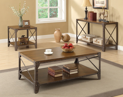 Coaster Furniture - 703199 - SOFA TABLE (RUSTIC BROWN)