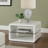 Coaster Furniture - 703267 - END TABLE (GLOSSY WHITE)