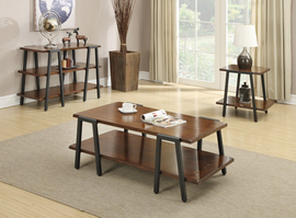Coaster Furniture - 703287 - END TABLE (BLACK/BROWN)