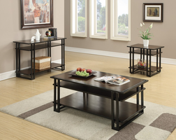 Coaster Furniture - 703299 - SOFA TABLE (BLACK COFFEE)