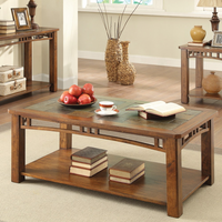 Coaster Furniture - 703328 - COFFEE TABLE (BROWN AMBER)