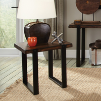 Coaster Furniture - 703427 - END TABLE (VINTAGE BROWN & BLACK)