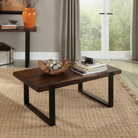 Coaster Furniture - 703428 - COFFEE TABLE (VINTAGE BROWN & BLACK)