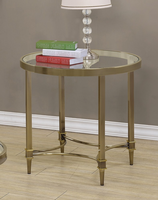 Coaster Furniture - 703507 - END TABLE (OIL RUBBED BRASS)