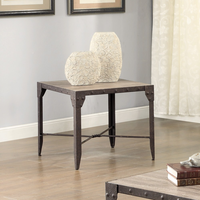 Coaster Furniture - 703697 - END TABLE (WEATHERED BROWN/ANTIQUE BROWN PATINA)