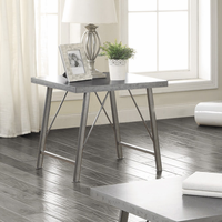 Coaster Furniture - 703757 - END TABLE (GALVANIZED/GUNMETAL)