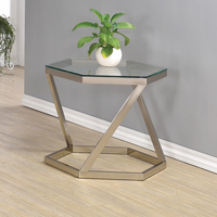 Coaster Furniture - 704007 - END TABLE (NICKEL)