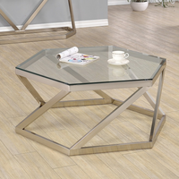 Coaster Furniture - 704008 - COFFEE TABLE (NICKEL)