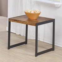 Coaster Furniture - 704027 - END TABLE (ANTIQUE NUTMEG/GUNMETAL)