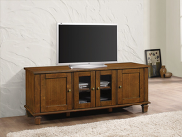 Coaster Furniture - 704401 - TV CONSOLE (WARM BROWN)