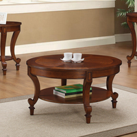 Coaster Furniture - 704408 - COFFEE TABLE (WARM BROWN)