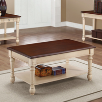 Coaster Furniture - 704418 - COFFEE TABLE (DARK BROWN/ANTIQUE WHITE)