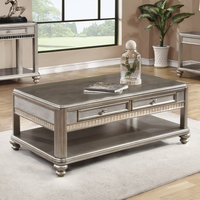 Coaster Furniture - 704618 - COFFEE TABLE (METALLIC PLATINUM)