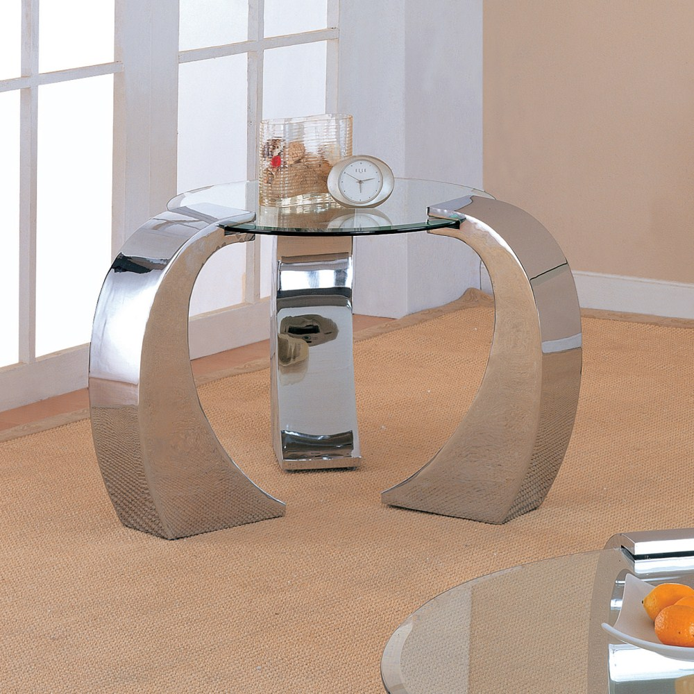 Coaster Furniture 720057 End Table Chrome Plated