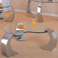 Coaster Furniture 720058 - Coffee Table (Chrome-Plated)