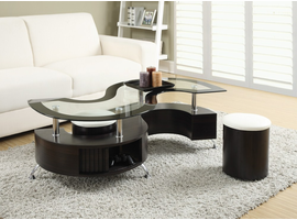 Coaster Furniture - 720218 - COFFEE TABLE & STOOLS
