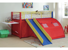 Coaster Furniture 7239 - Bunk Bed (Red/Yellow/Blue)