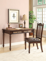 Coaster Furniture - 800079 - 2PC DESK SET (MERLOT)