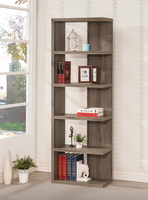 Coaster Furniture - 800553 - BOOKCASE (WEATHERED GREY)