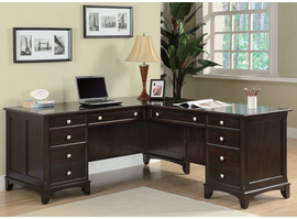 Coaster Furniture 801011L - Garson Left Pedestal Desk (Cappuccino)