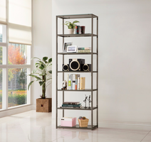 Coaster Furniture - 801017 - BOOKCASE (BLACK NICKEL)