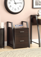 Coaster Furniture - 801144 - FILING CABINET (DEEP COFFEE/BLACK METAL)